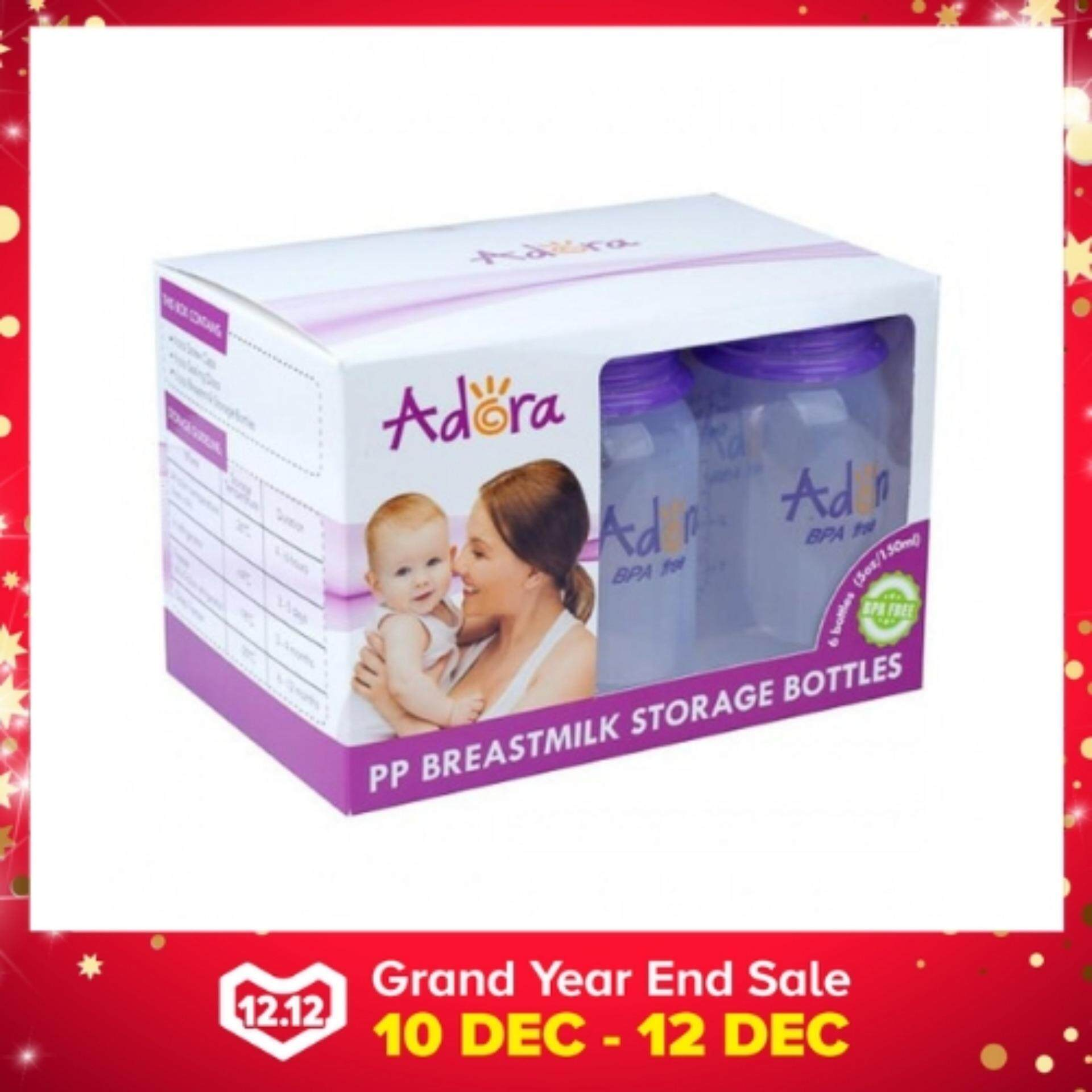 Adora Breastmilk Storage Bottles *5oz Standard Neck* (6pc / Pack) By Onebabyworld.