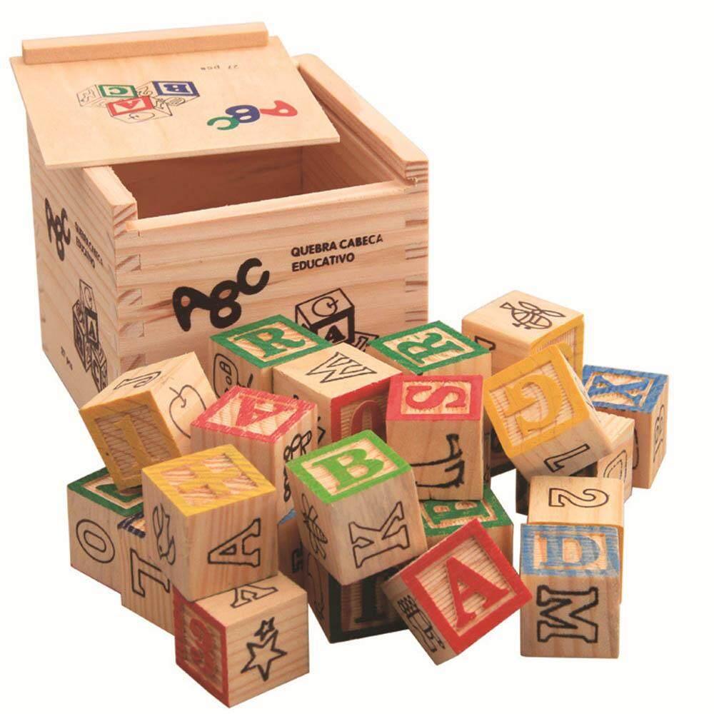 Fancytoy 27 Pcs Wood Alphabet Blocks Letters Stacking Building Blocks Educational Toys By Fancytoy Market.