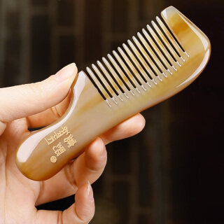 Mudah Dibawa Hadiah Super Mini Sisir Ukuran Kecil Mudah Dibawa Sisir Bulat Sisir Gigi Petpet Putih Tanduk Sisir Alami 1201 thumbnail