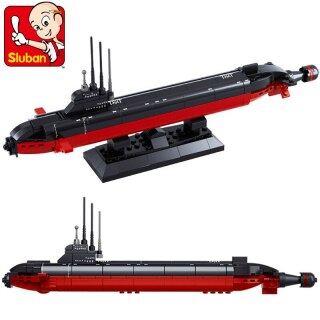 193 Khối Xếp Hình Bằng Nhựa Sluban Tự Làm, Tàu Sân Bay Loạt Trận Chiến, Đồ Chơi Lắp Ráp Quân Sự Cho Bé Trai Tàu Ngầm Hạt Nhân 0391 thumbnail