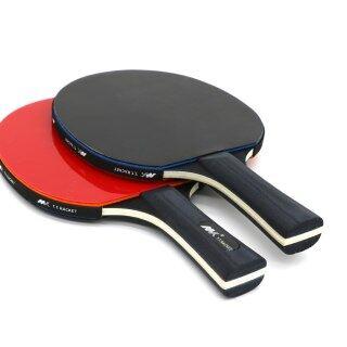 2Pcs Lot Table Tennis Bat Racket Good Control Long Short Handle Ping Pong Paddle Racket Set With Bag thumbnail