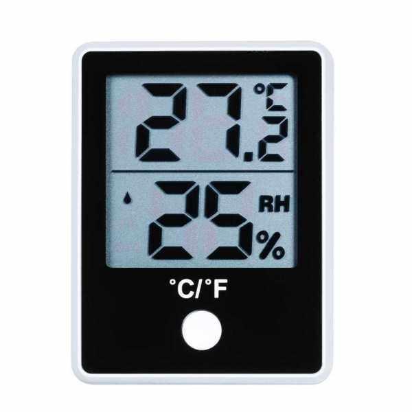 KKmoon Dual Temperature Humidity Meter LCD Digital Indoor Thermometer Hygrometer Magnetic Temperature Meter Humidity Gauge ℃/℉ Switchable Thermo-Hygrometer (Standard)