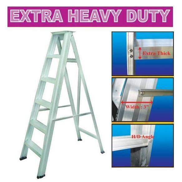 5/6/7/8/9 Steps Hardness Aluminium Single Sided Ladder