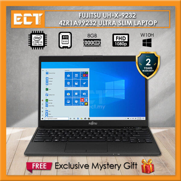Fujitsu UH-X 9232 4ZR1A99232 Laptop (i5-10210U 4.20GHz,8GB,512GB SSD,13.3 FHD,Intel,W10) - Black Malaysia