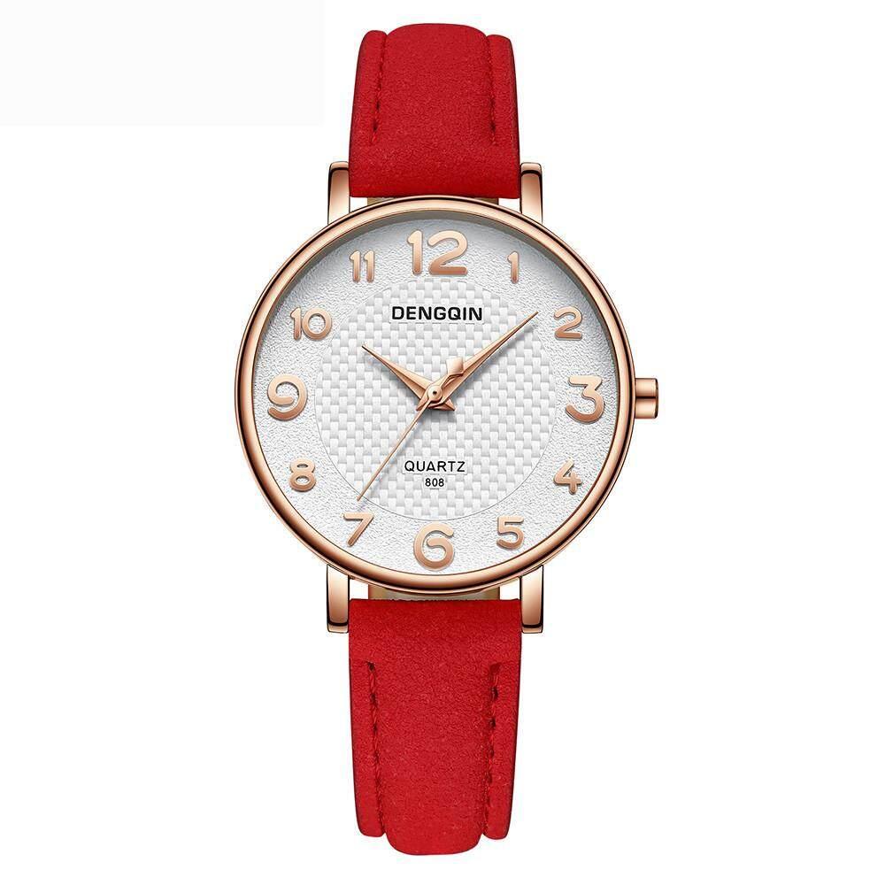 35f7a300806732 BPFAIR Luxury Fashion DENGQIN Women's Crystal Stainless Steel Quartz Analog Wrist  Watch Free shipping
