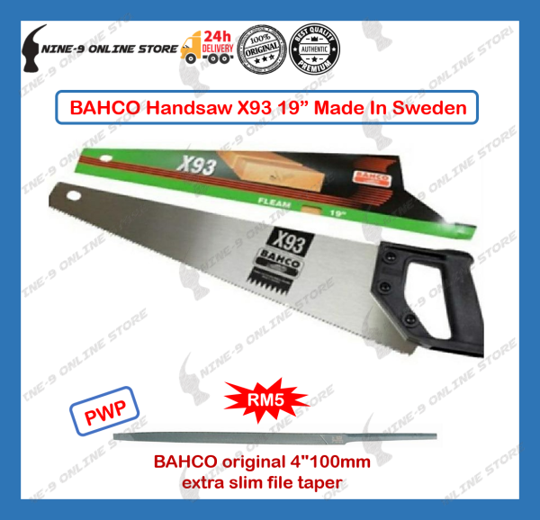 BAHCO X93 19 Handsaw 100% ORI Made In Sweden