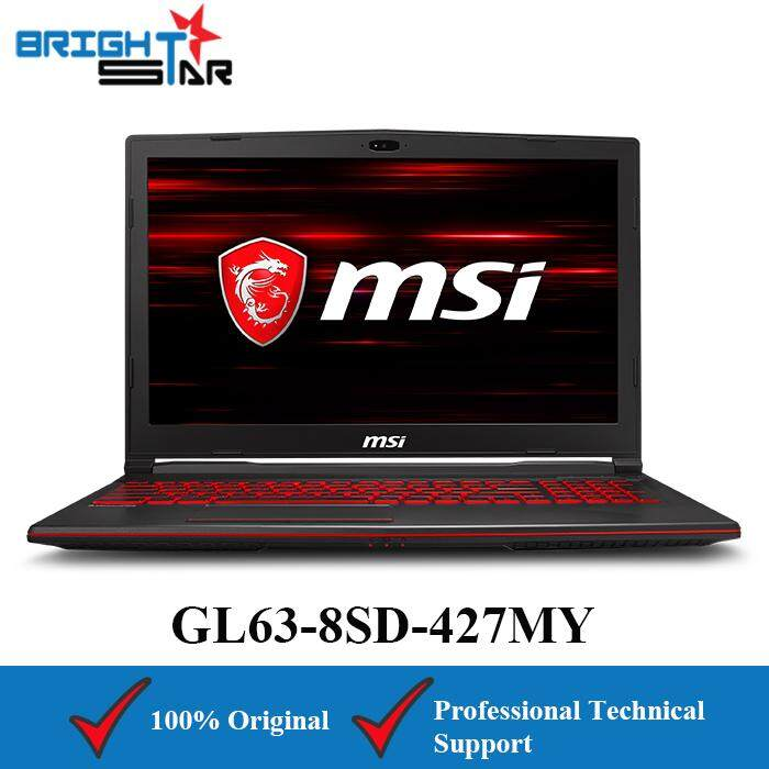 MSI GL63-8SD-427MY (Intel I7-8750H/16GB/1TB HDD+512GB SSD/GTX1660TI 6GB/15.6inch) Malaysia