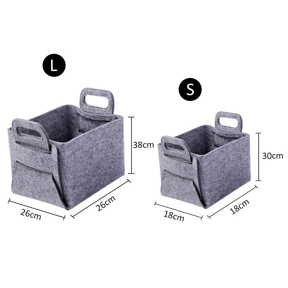 Northern Europe Style Folding Felt Storage Bag Dirty Clothing and Toys Storage Bag