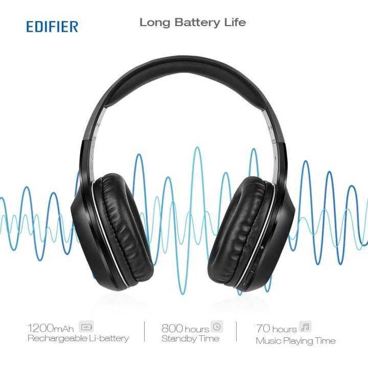 Detail Gambar Original EDIFIER W806BT Wireless Bluetooth Headphones On-Ear Stereo Music Headband Headset 70 Hours Playtime Built-In Microphone Earphone ...