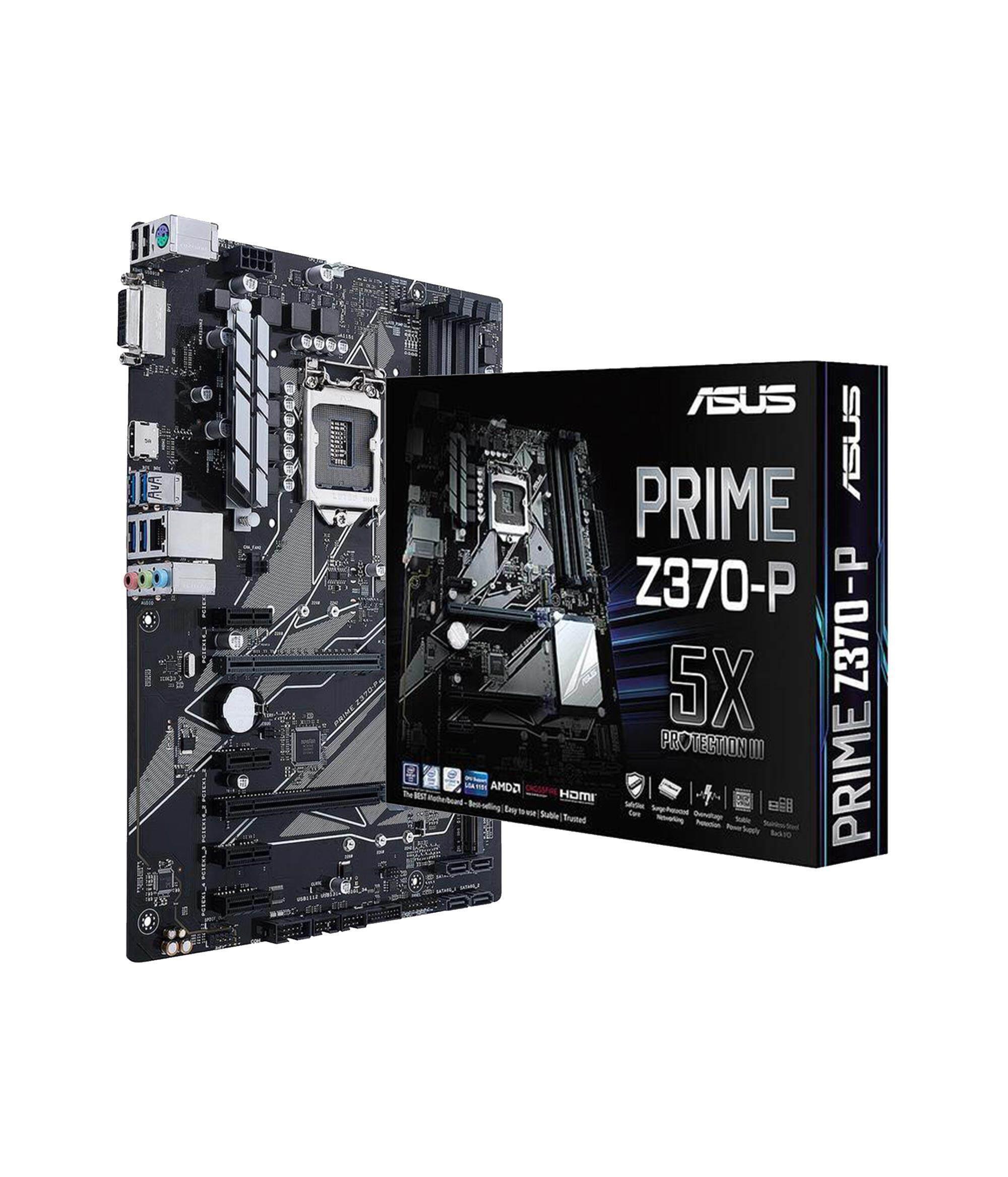 ASUS PRIME Z370-P Motherboard + Intel Core i7-8th Gen 8700 Desktop Processor (Complete Set)