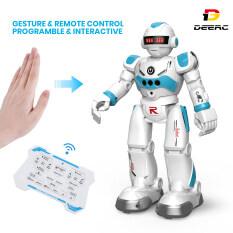 Robot đồ chơi deerc cho trẻ em bé trai robot điều khiển từ xa lập trình thông minh với cảm biến bằng cử chỉ, đi bộ, nói chuyện, hát, khiêu vũ, quà tặng đồ chơi thông minh cho bé trai bé gái