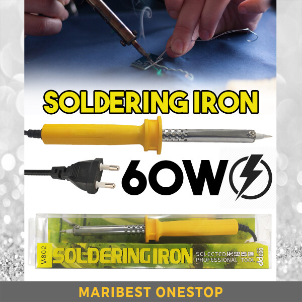 V-802 60W 250V 6A Lightweight SOLDERING IRON For Hot Iron Welding Electronic Circuit Melt Iron DIY