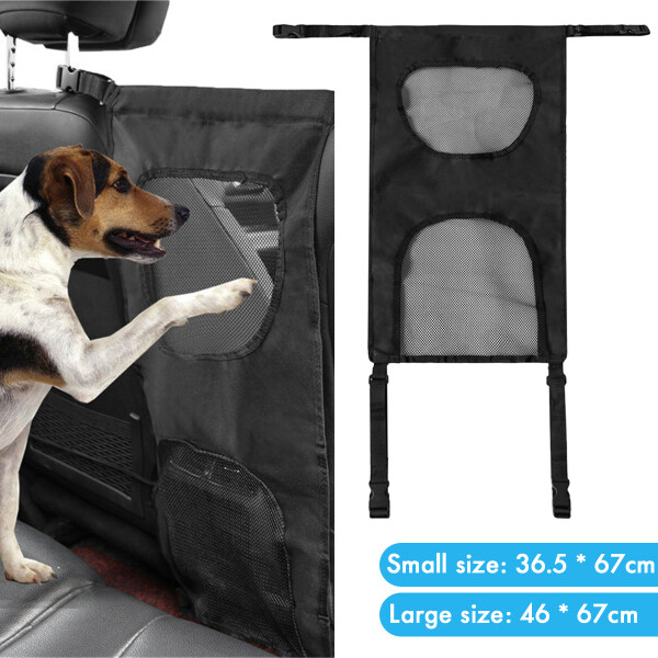 S/L Car Back Seat Pet Auto Fence Barrier Isolation Network Claw Proof Safety Gate Mesh
