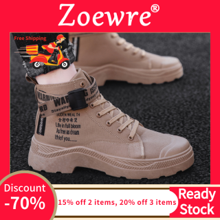 Giày Chạy Zoewre Thời Trang Cho Nam Giày Thể Thao Cổ Cao Giày Chạy Bộ Thời Trang Thường Ngày thumbnail