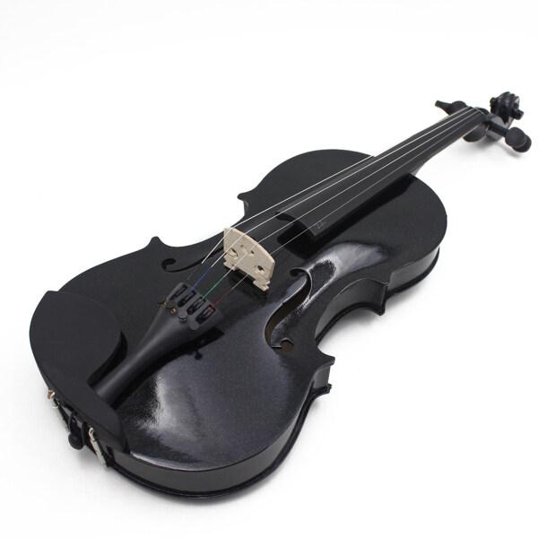 4/4 Acoustic Vĩ Cầm Bằng Gỗ Chuyên Nghiệp Rắn Violon Gỗ Người Mới Bắt Đầu Fiddle Basswood Cơ Thể Violon Nhạc Cụ Dây