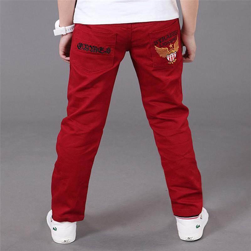 d4d2b77df814c 2019 Boys Pants Kids Trousers Casual Cotton Mid Elastic Waist Pencil Pants  for a Boy 4-16T Children Clothing