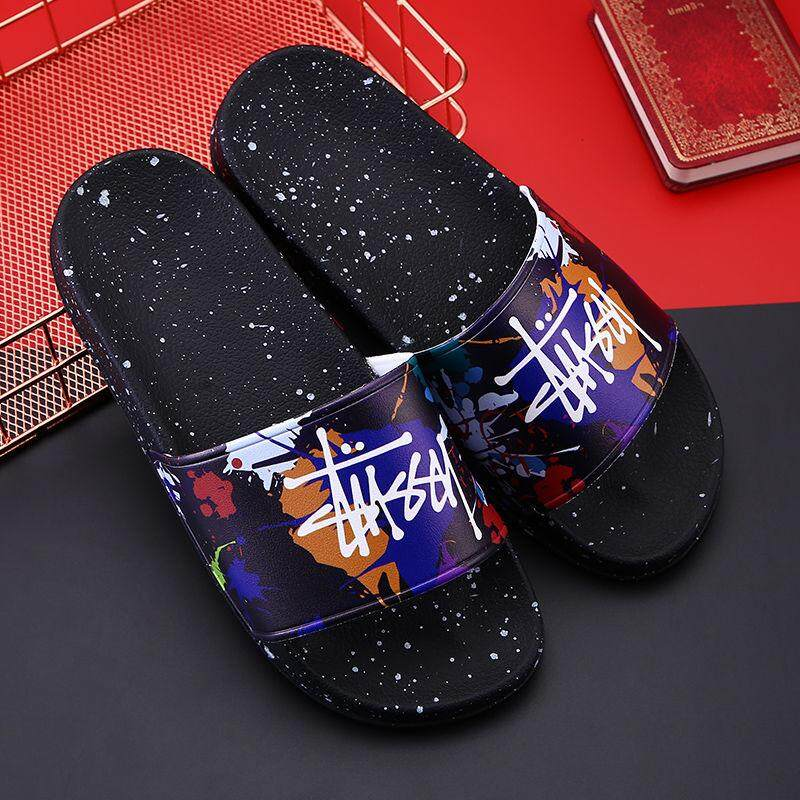 Stussyy Stushi Sandals And Slippers Stussy Men And Women Couples Fashion Summer Wild Outdoor Wear Thick Flat Japan And South Korea Europe And The Tide Brand By Bosue Shop.