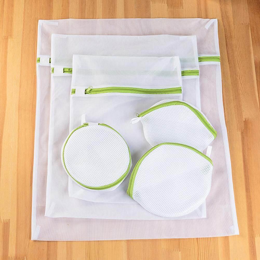 Bộ 6 Túi Lưới Đựng Quần Áo Đồ Lót Áo Ngực Hữu Ích Lưới Giặt Net Dây Kéo Túi