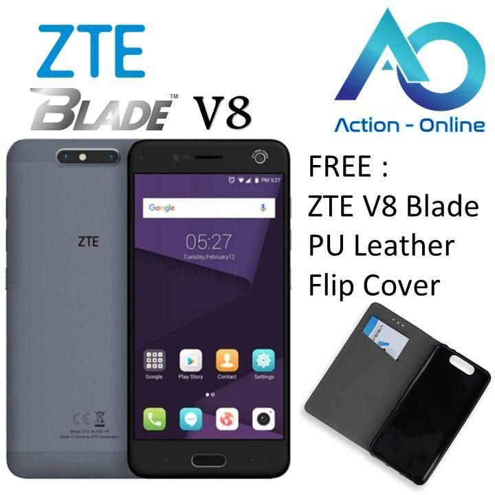 [Free Gift : Flip Cover] ZTE Blade V8 Handphone (32GB ROM + 3GB RAM) 1 Year Warranty by ZTE Malaysia