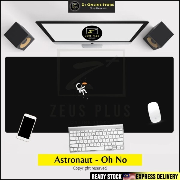 Z PLUS Astronaut Large Gaming Mouse Pad for PC Gamer Outer Space Galaxy Design Gaming Mat Anti Slip Mousepad Washable PC Gamer Laptop Office Home Use Present Malaysia