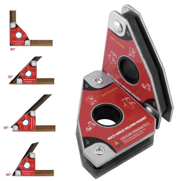 2 cái Wm4-304590s NdFeB Hàn định vị phụ trợ hàn từ công cụ phụ trợ góc phải và góc xiên đa góc hàn mạnh mẽ từ tính lực sắt