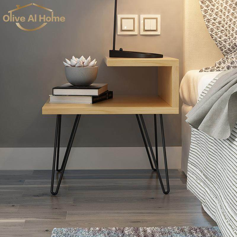 Bedside Tables Wooden Bedside Tables New Design With Metal Legs By Olive Al Home