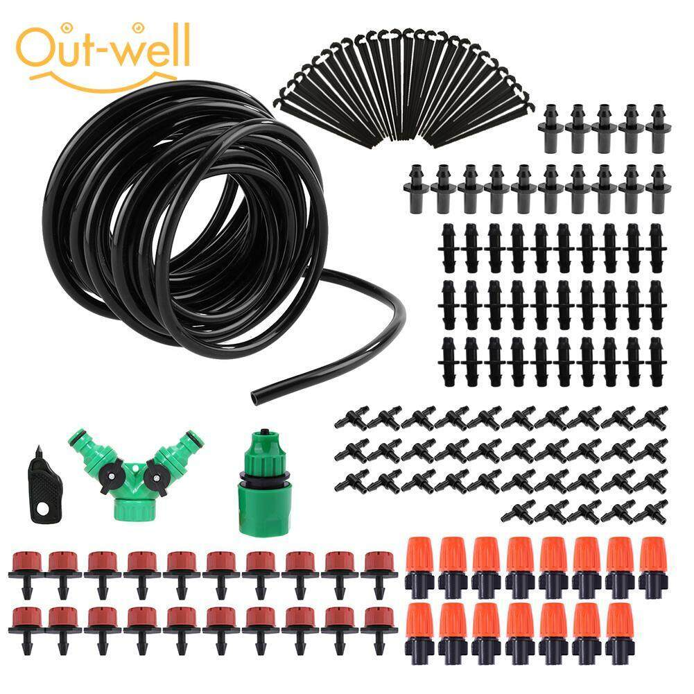 30m Micro Drip Irrigation System Adjustable Dripper Plant Self Watering Kit