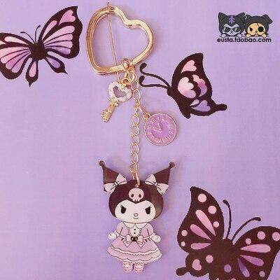 1 Pc Lovely big ear dog Cinnamoroll Keychain Cartoon Kuromi Doll Keyring Girls gifts