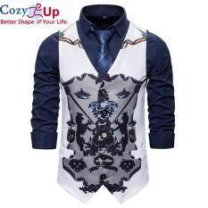 Áo Vest Đám Cưới Cozy Up Cho Nam, Trang Phục Ca Sĩ Sân Khấu Khiêu Vũ Tiệc Đêm Hoa Phong Cách Baroque Thời Trang