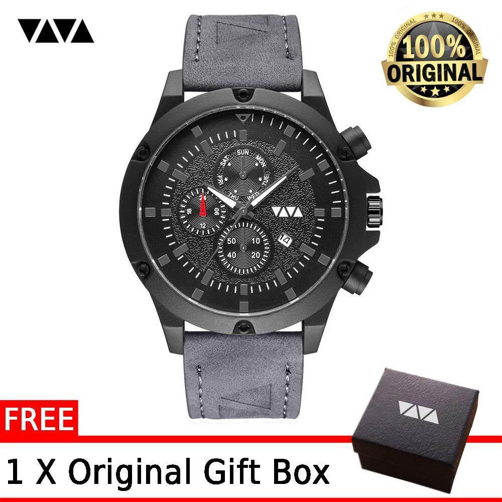 VA VA VOOM Sports Watch For Men Triangle Belt Waterproof Fashion Casual Business Calendar Quartz Watches Malaysia