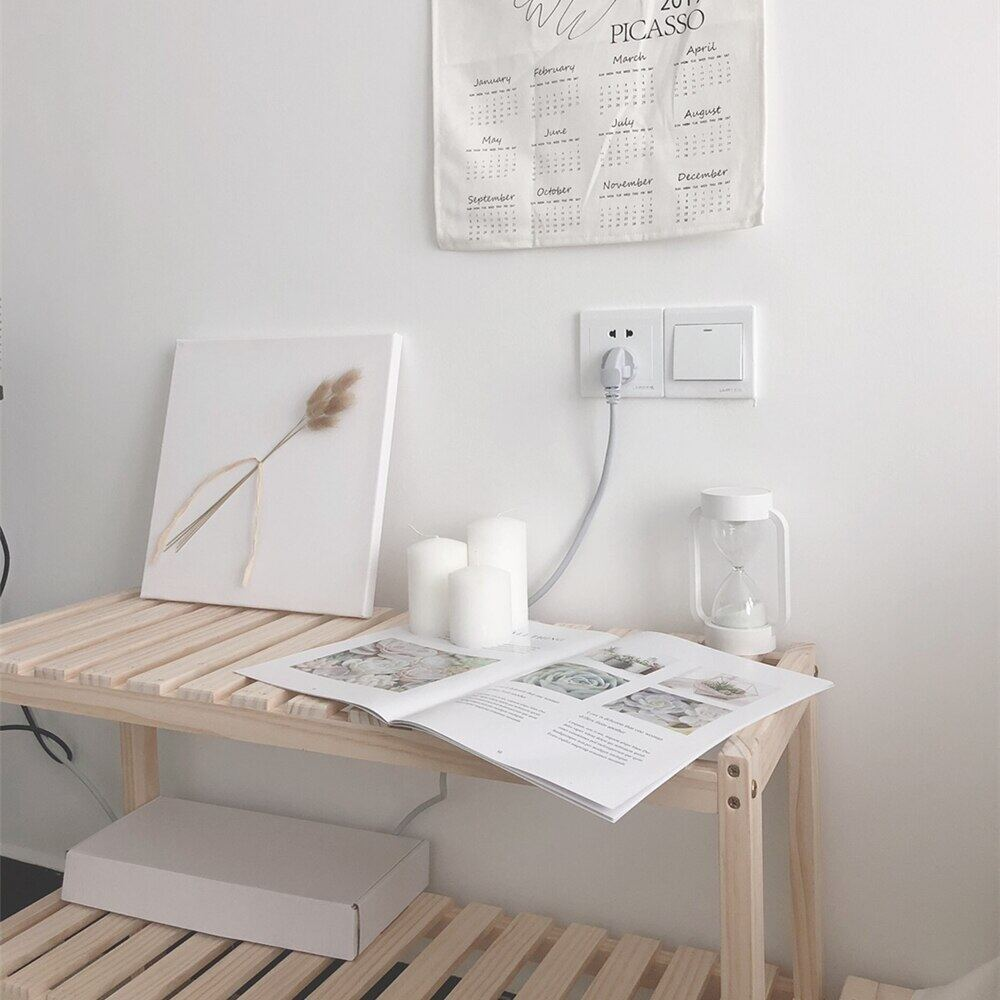 Wooden Decorative Cabinet Sundries Storage Rack 50*30*48 cm Store Office Bedroom Decoration Prateleira Organizer Wood Shelf