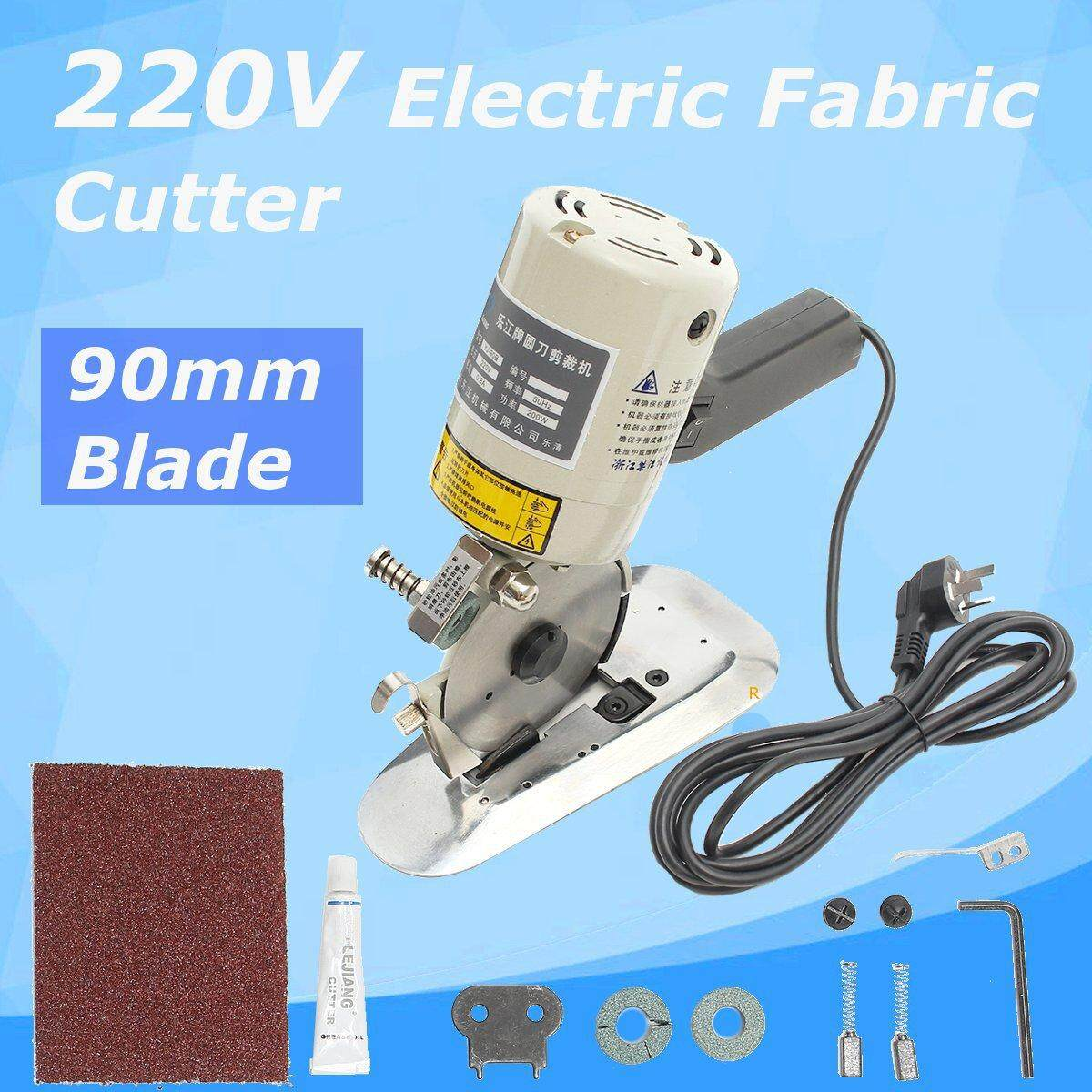 Electric Cloth Textile Cutter Fabric Leather Cutting Machine Scissor Saw Blade