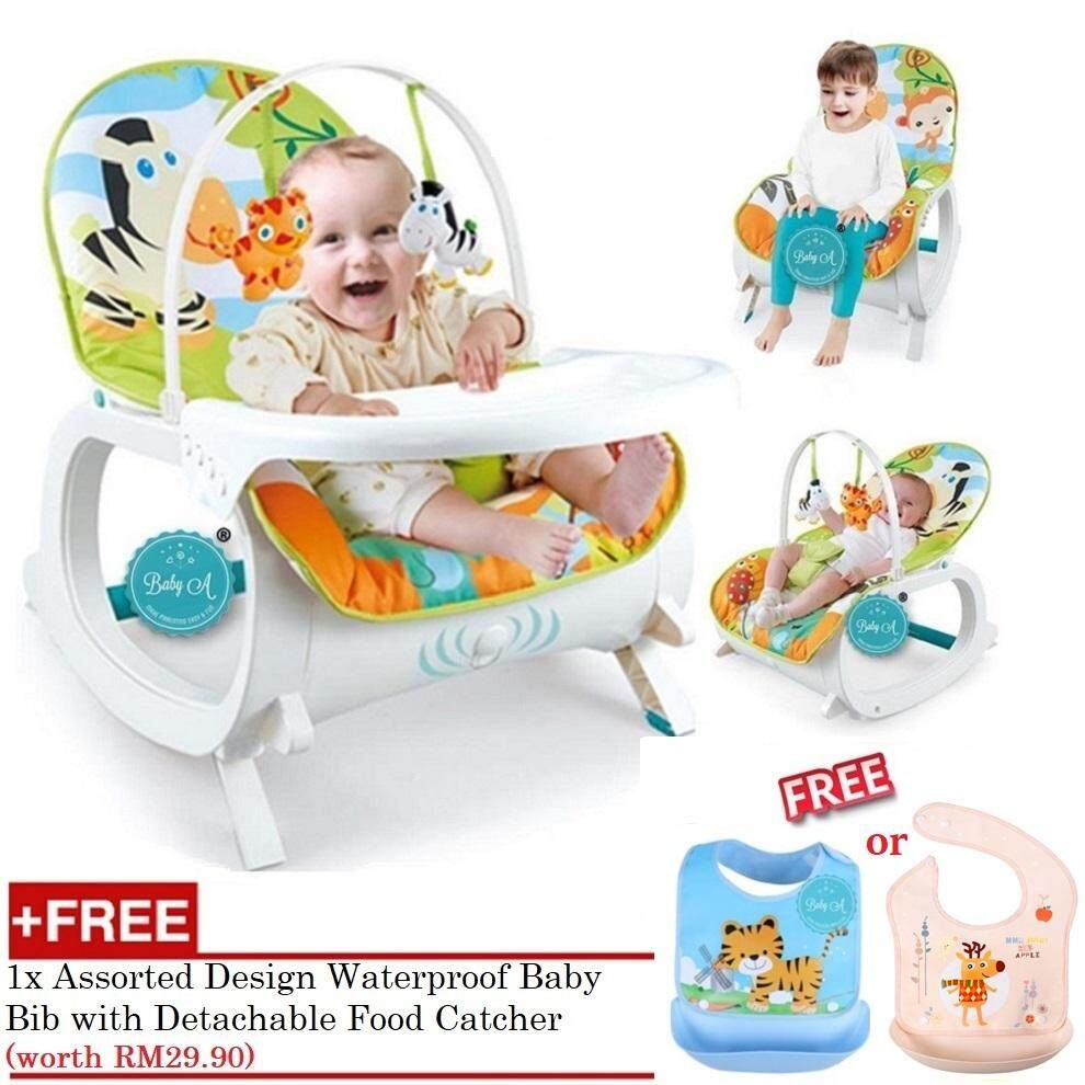 BABY A Multipurpose Infant-to-Toddler Rocker Bouncer and Chair