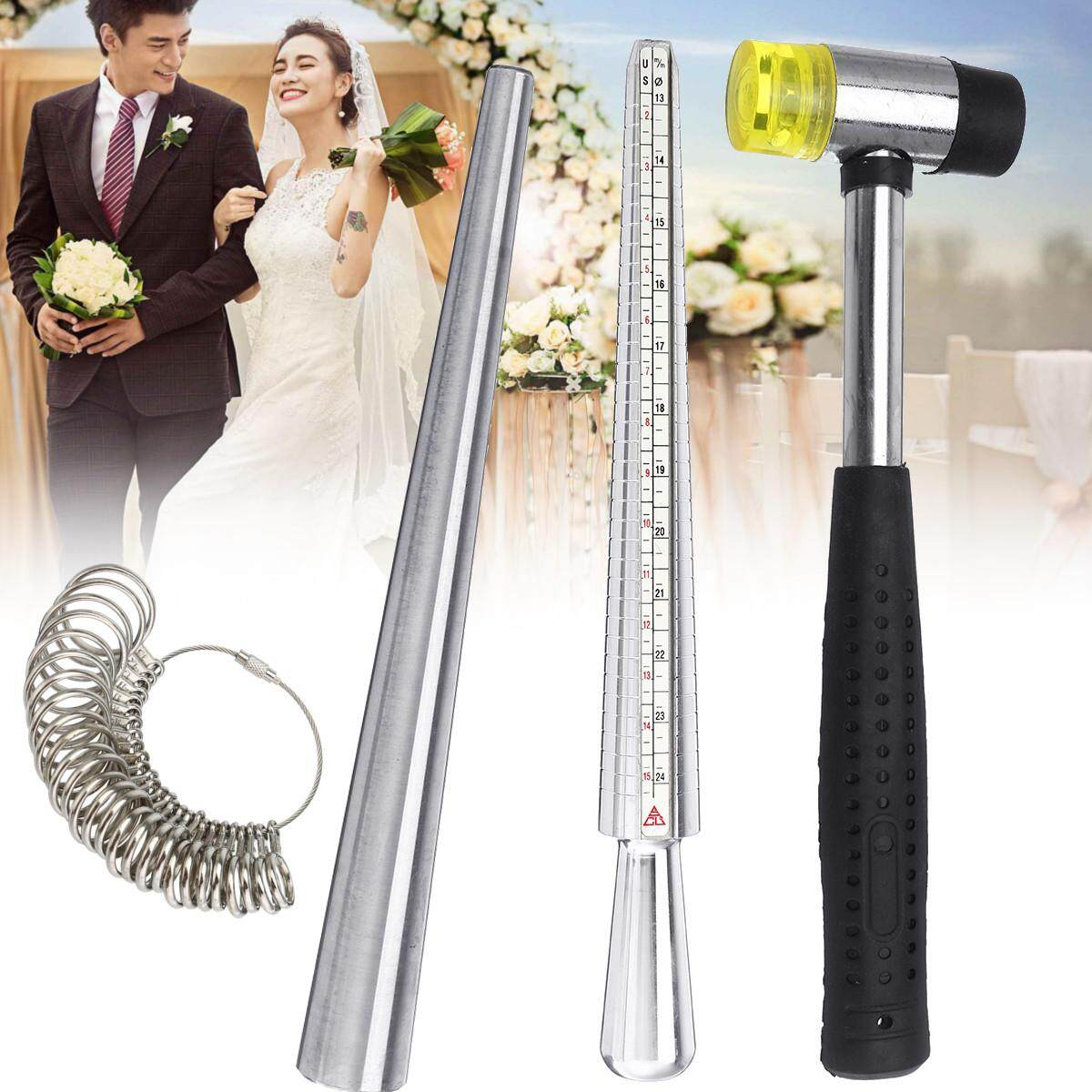 Metal Ring Sizer Gauge Stretcher Enlarger Jewelry Sizing Tool Sets Rubber Hammer By Moonbeam.