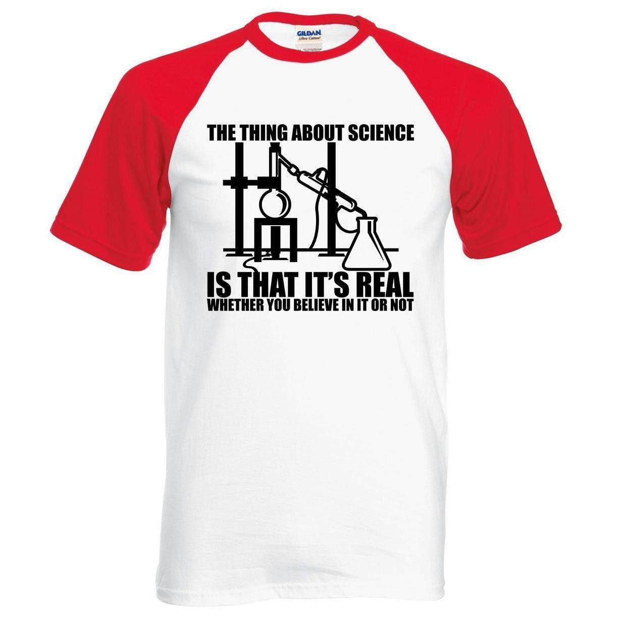 Aosikadult T Shirt Ini Adalah Ilmu-REAL Percaya atau Tidak Pria T Shirt 2019 Baru Musim Panas 100% Katun Kualitas Tinggi Kaus Ralgan Hipster