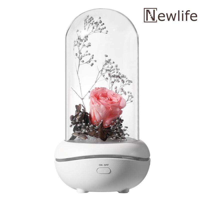 7 Color LED Essential Oil Aroma Diffuser Immortal Rose Aromatherapy Lamp Singapore