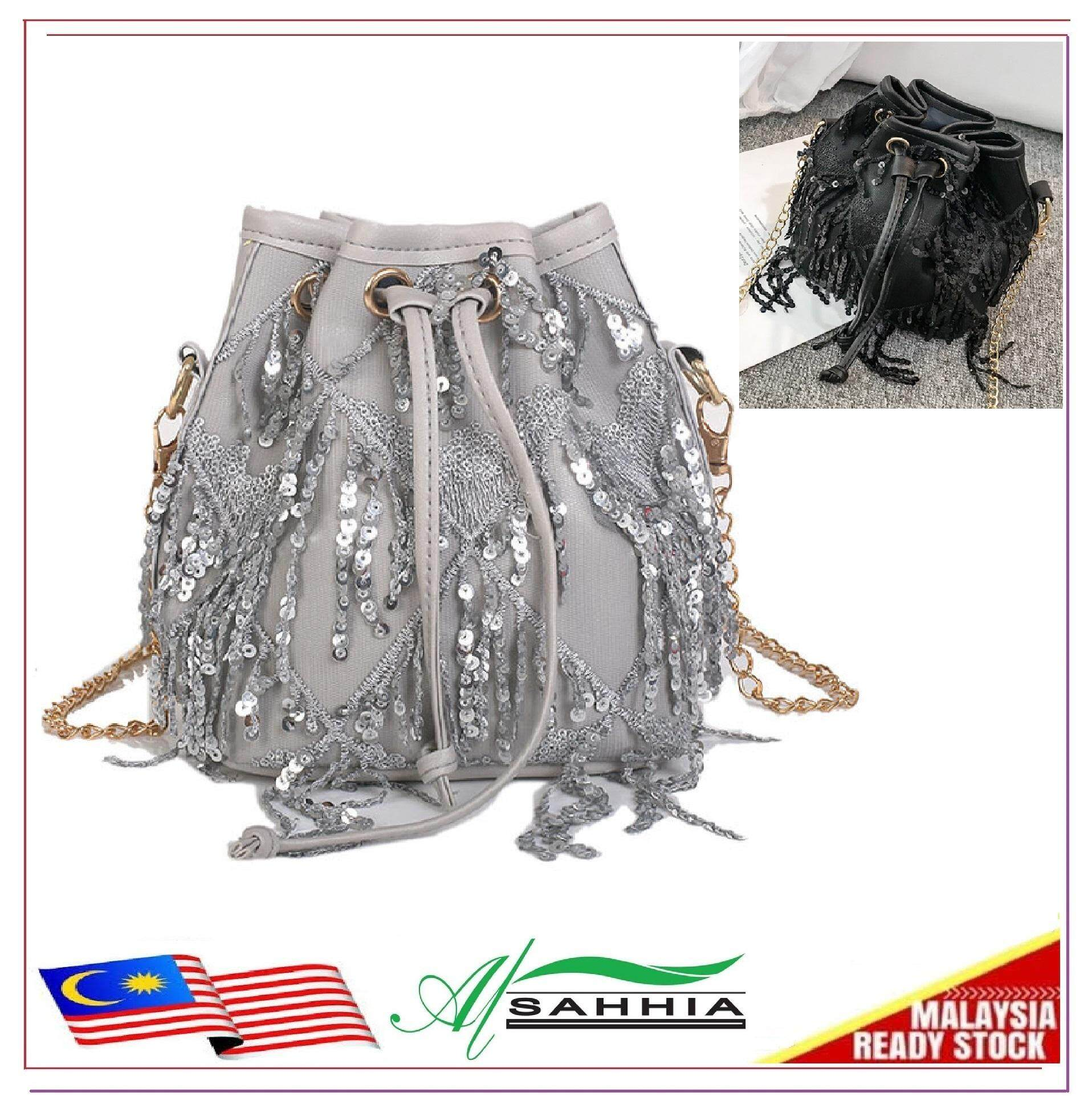5b29fb7a10b Al Sahhia Ready Stock Tassel Bucket Chain Crossbody Sling Bag