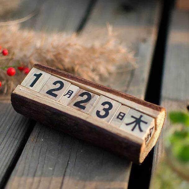 Photography for Children Clothing 2018 New Style Studio Theme Props Vintage Wood with Numbers Calendar Photo Taking Filming