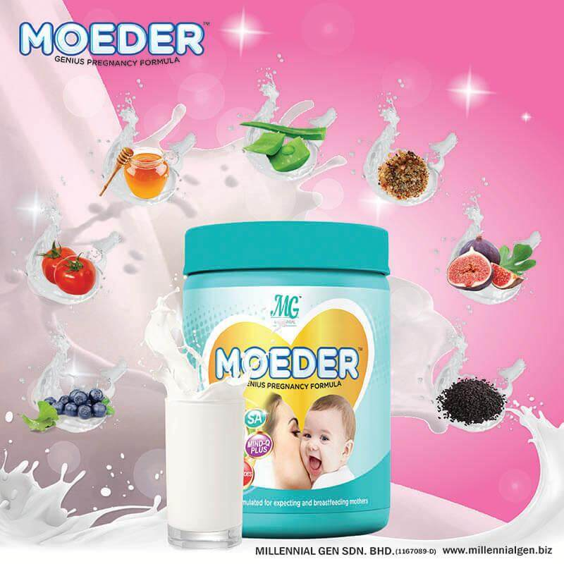 Moeder Milk Booster Free Shipping + Free Gift By Mercu Indah.