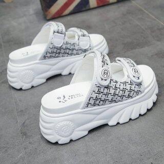 Giày Lười Đế Xuồng 8Cm 3.1 Inch Cho Nữ, Giày Phong Cách Hàn Quốc, Giày Thoải Mái Mùa Hè thumbnail