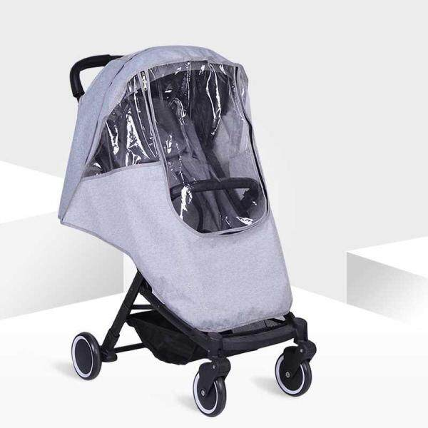 86x48cm Baby Universal Waterproof Stroller Rain Cover Wind Dust Shield Pushchair Covers Sun Shade Canopy Buggy Pram Jogger Accessories Gray Singapore