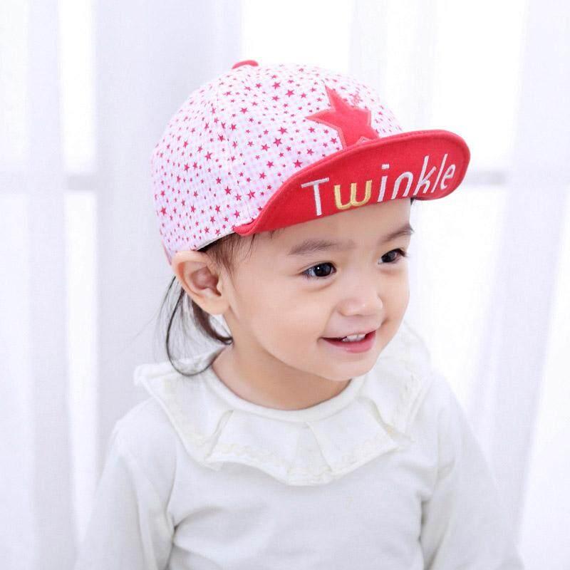e8ba4ebba25 Cute Star Print Baby Hat Embroidery Letter Baby Boy Girl Baseball Caps  Summer Adjustable Kids Snapback