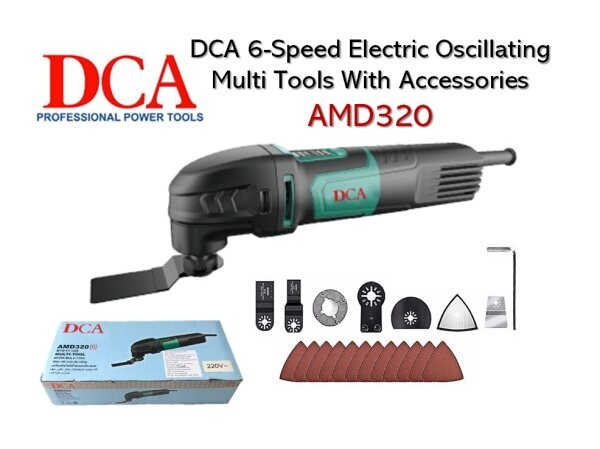 DCA AMD320 Electric Oscillating Multi Tools / Multi Machine With Accessories