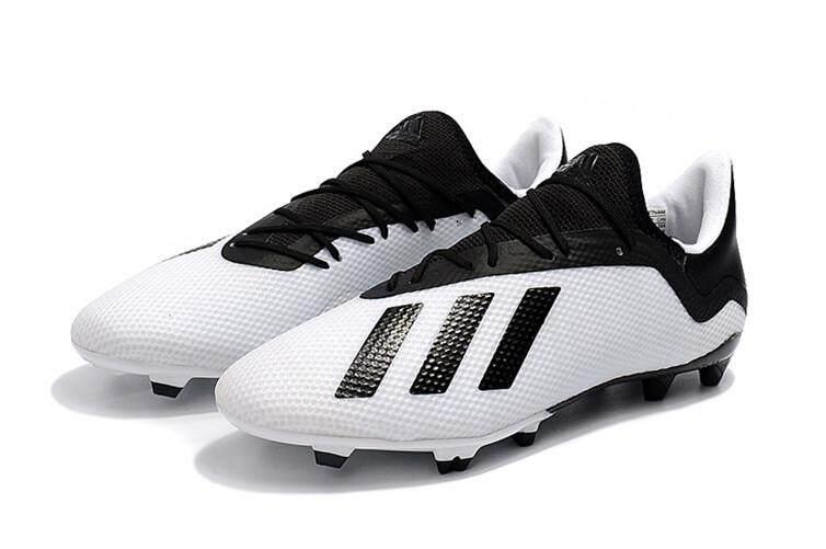 Adidas Asli Mens Sepatu Sepak Bola Hitam Putih Diskon X18.2 FG Piala Dunia 6da95b7783