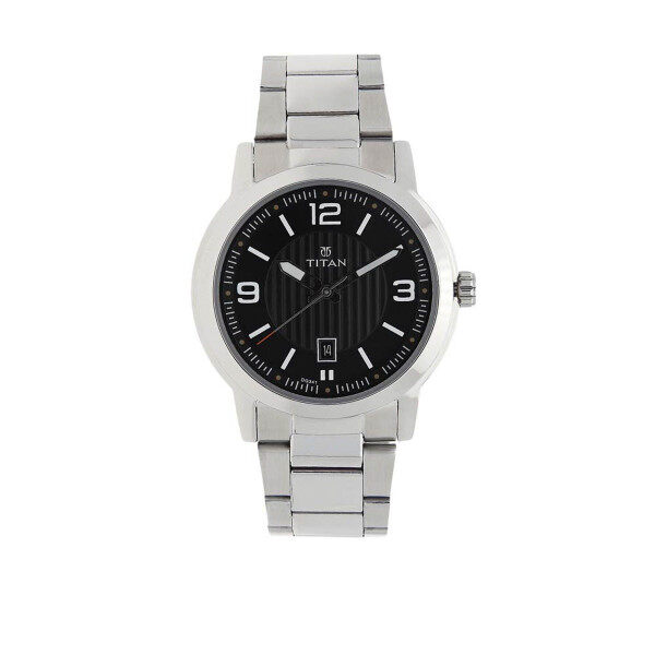 TITAN Workwear Watch with Black Dial & Stainless Steel Strap for men 1730SM02 Malaysia