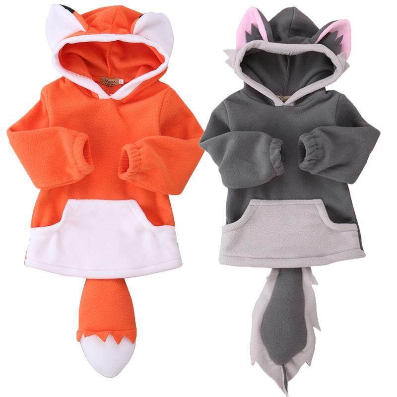 Bayi Balita Laki-Laki Pakaian Luar Cewek Mantel Bertudung Jaket Musim Dingin Hangat Pakaian Telinga By Amazingly.