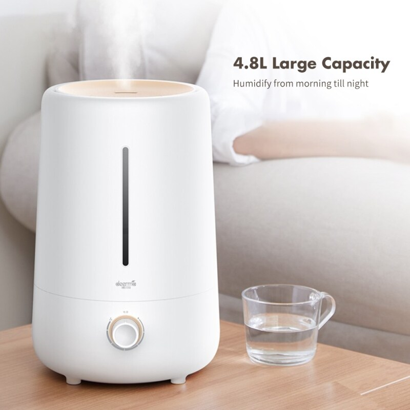 Deerma F426 Cool Mist Air Humidifier 4.8L Larger Capacity Aromatherapy Air Purifier Humidifier Low Noise For Bedroom Office Singapore
