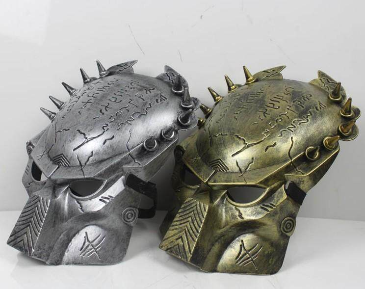 Alien vs PREDATOR Warrior AVP Cosplay Full Face Costume MASK GOLD or SILVER