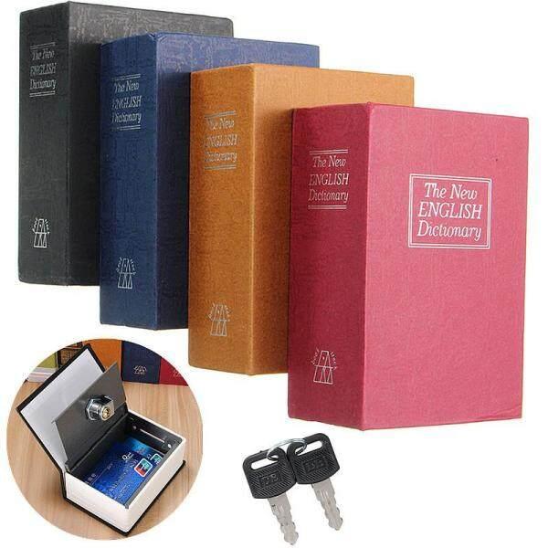 Mini Home Security Dictionary Book Bí Mật Khóa Lưu Trữ An Toàn Hộp Khóa Tiền Mặt + 2 Phím Màu Xanh-gules