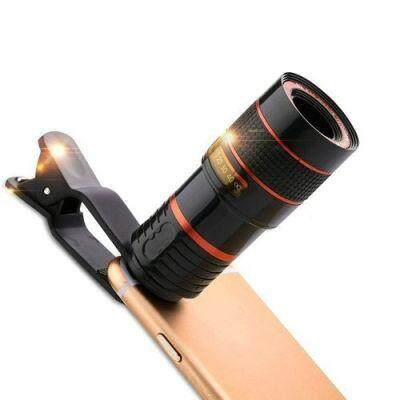 YEDUO Photography Telescope Lens Clip for Mobile Phone Optical Photo Zoom Camera (BLACK)